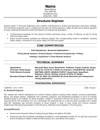 structural engineer resumes