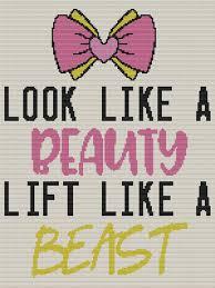 Look Like A Beauty Lift Like A Beast Standard Word Chart