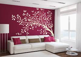 tree branch blowing wall decal