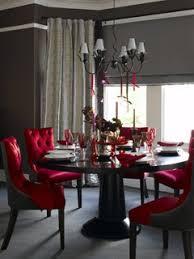red chocolate brown elegant dining room