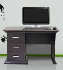 buy kichirou study table with three drawers in wenge finish by
