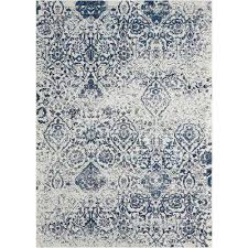 damask ivory navy 8 ft x 10 ft area rug