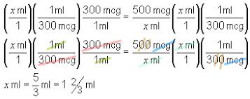 Mcg To Ml Math Central