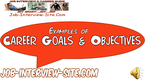 career goals and objectives examples career goals and objectives examples