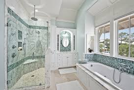 traditional bathroom sea glass tile with bath mat of find best