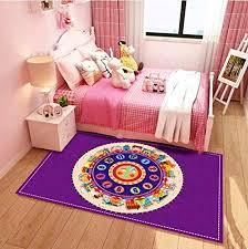 ustide elephant design kids playmat boys play rugs nonslip area rugs soft children bedroom decor living
