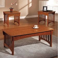 mission style living room furniture living room. mission style accent oak coffeetable with 2 end tables living room furniture o