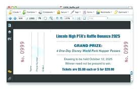 Draw Ticket Template Free Raffle Draw Ticket Template Software Tickets Download Maker