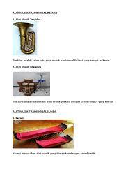 Tiada salahnya fungsi alat musik tradisional betawi dijadikan objek wisata. Alat Musik Tradisional Singkat