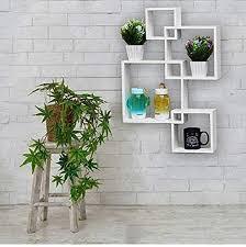 woodkartindia intersecting wall shelf