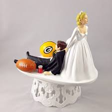 wedding cake toppers. football themed wedding cake topper toppers g