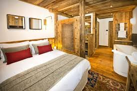 master bedroom with open bathroom. Ski-chalet-genepy-8 Master Bedroom Incredible Open Bathroom Concept For With N