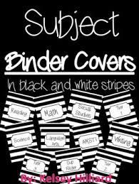 Folder Cover Sheets Eleven Different Subjects Can Be Edited Tpt