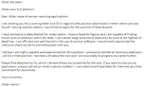 Data Analyst Cover Letter Example Cover Letters Pinterest