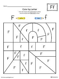 Lowercase Letter F Color by Letter Worksheet