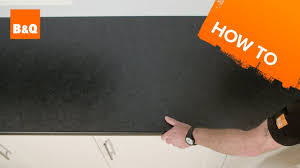 B And Q Kitchen Flooring How To Fit A Kitchen Worktop Youtube