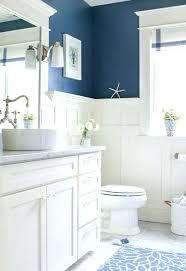 blue bathroom walls white paneling for bathroom walls navy blue and white bathroom saw nail and
