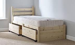 bed frame with storage drawers. Unique Bed Single 3ft Wooden Storage Pine Bed Frame  Can Be Used By Adults Includes  Two Large Pull Out Underbed Drawers Amazoncouk Kitchen U0026 Home On With Storage Drawers B