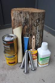 good instructions and pictures for how to create a tree stump table let stump dry awesome tree trunk table 1