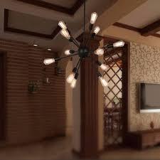 industrial loft lighting. Wholesale Vintage Industrial Loft Pendant Light 12/15/18/20 Head Sputnik Lamp Restaurant Bar Lights E27 Edison Bulbs Kitchen Island Lighting P