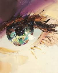 ukrainian artist pavel guzenko manages to capture the glimmering gaze of the human eye with his eye paintingoil