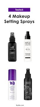 the best and worst of makeup setting sprays