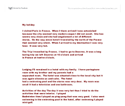my holiday i ed paris in a level media studies  document image preview