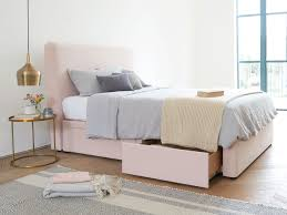 pink upholstered bed. Ruffled Headboard In Faded Pink Brushed Cotton Upholstered Bed U