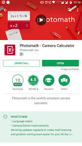 this is one of the best apps to solve mathematical problems this app uses augmented reality ar it means it simply solves the math problems using your