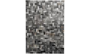 rugs s rug rectangular grey leather