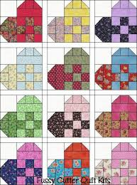 Now that the Scrappy Patchy Ribbon Heart quilt top is done for my ... & Hearts Scrappy Calico Patch Fabric Fast Easy Pre-Cut Quilt Top Blocks Kit  Fussy Cutter Quilt Kits Love this! Adamdwight.com