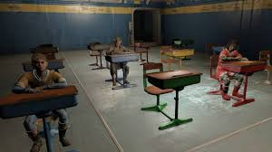 School desk in classroom 30 Student School Desk Child Settler Work Station School Desk Child Settler Work Station At Fallout Nexus Mods