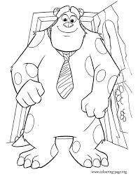 Small Picture Monsters Inc Sulley dressed to go to work coloring page