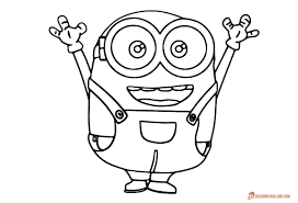 Minion Coloring Pages For Kids Free Printable Templates