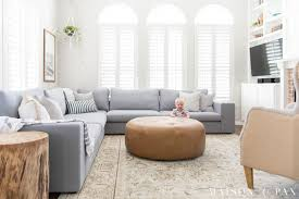 Designing a Small Living Room with a Large Sectional - Maison de Pax
