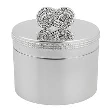 vera for wedgwood infinity baby first tooth box silver amara