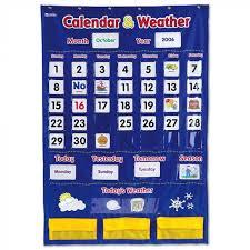 Black Classroom Calendar Pocket Chart Calendar And Weather Pocket Chart