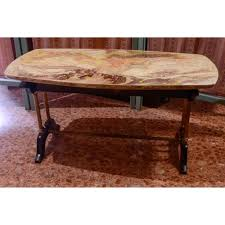 vintage coffee table with faux marble