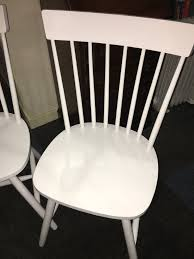 Attractive Pair Of White Solid Country Kitchen Style Occasional - Occasional bedroom chairs