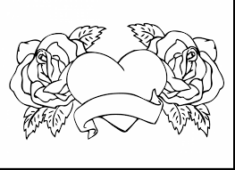 rose color pages 68 free coloring book with for roses new