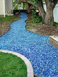 Image Flagstone Pathway Tumbled Glass Walkway Bob Vila Walkway Ideas 15 Ideas For Your Home And Garden Paths Bob Vila
