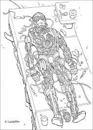 Robot C 3po Coloring Pages Hellokidscom
