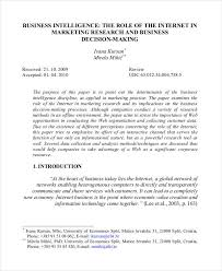 Business Paper 35 Research Paper Samples Free Premium Templates