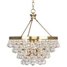 robert abbey bling chandelier antique brass
