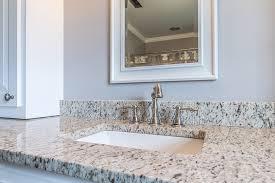 verona granite vanity top with white shaker cabinetatching mirror
