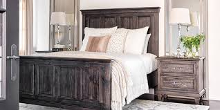 Grey Traditional Bedroom With Valencia Queen Panel Bed | Living Spaces