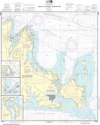 Noaa Nautical Chart 13238 Marthas Vineyard Eastern Part Oak Bluffs Harbor Vineyard Haven Harbor Edgartown Harbor