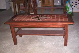 Lovely Wood Tile Top Coffee Table Home Design Ideas