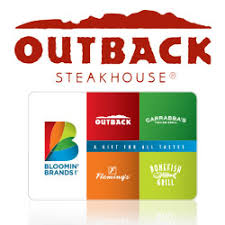 outback steakhouse gift cards e gift cards