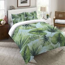 palm duvet cover. Contemporary Palm Tropical Palm Tree Leaves Duvet Cover With M